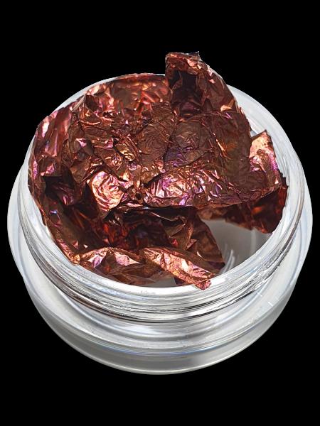 Folien Nailart Kupfer