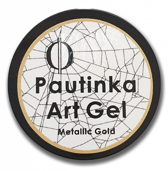 Pautinka Art Gel - metallic gold