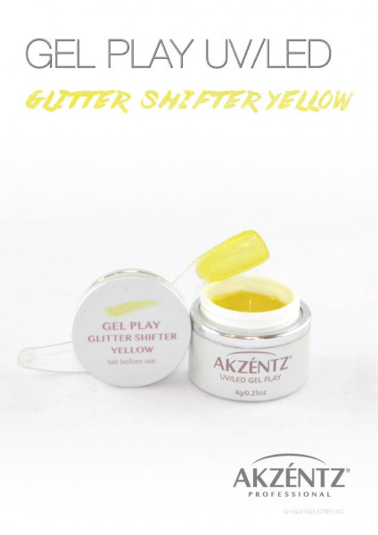 Yellow Glitter Shifter