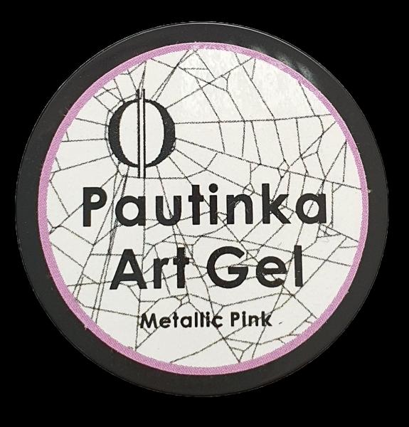 Pautinka Art Gel - metallic pink