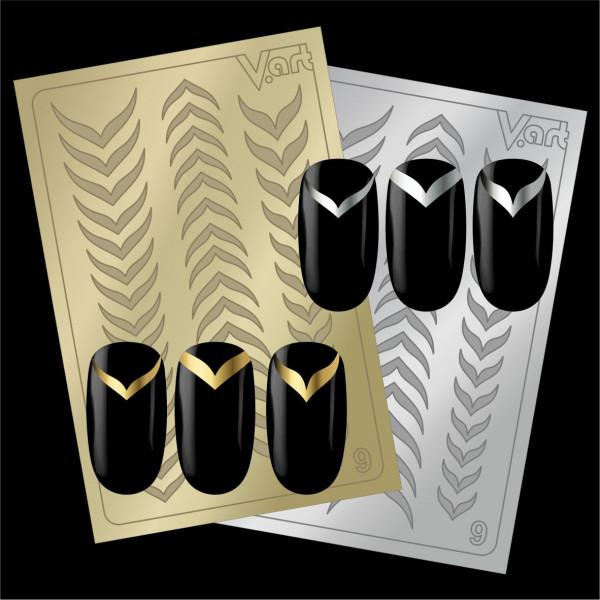 Folien Nailart Aufkleber #9 Gold / Silber