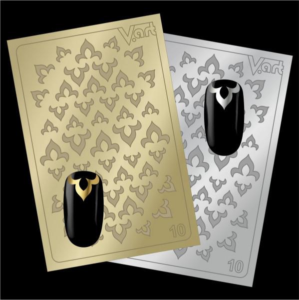 Folien Nailart Aufkleber #10 Gold / Silber