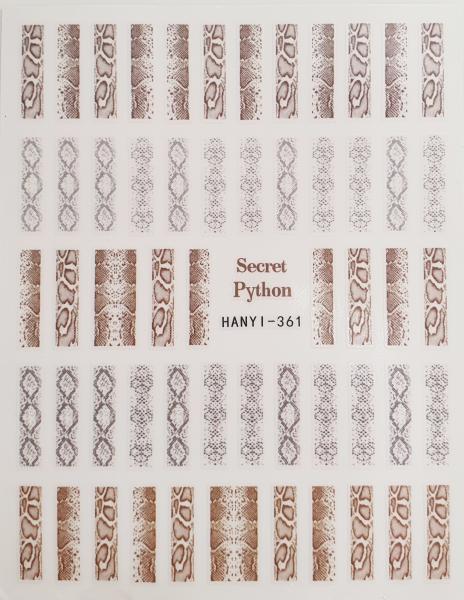 """Nailart Sticker """"Python"""""""