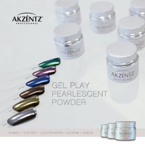 Akzentz Gel Play Pearlescent Powder 6 x 1 g