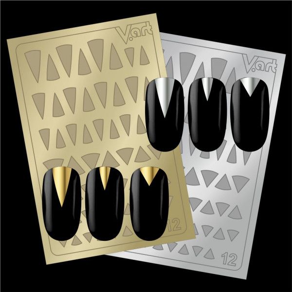 Folien Nailart Aufkleber #12 Gold / Silber